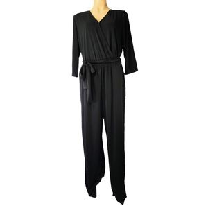 🆕NY Collection Women's Black Jumpsuit With Pocket